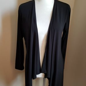 Joan Rivers black open front cardigan small